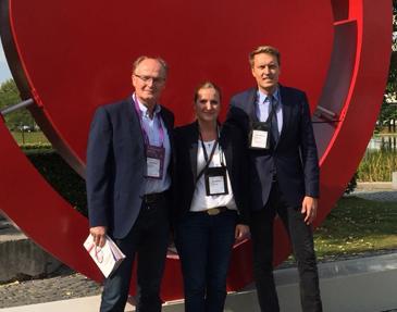 Dr. med. Reinhard Jochheim, Sarah Jochheim und Dr. med. David Jochheim auf dem Kardiologenkongress der European Society of Cardiology.
