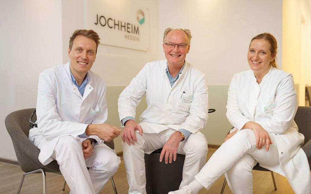 Jochheim Medizin: die Ärzte Priv.-Doz. Dr. med. David Jochheim, Dr. med. Reinhard Jochheim und Sarah Jochheim