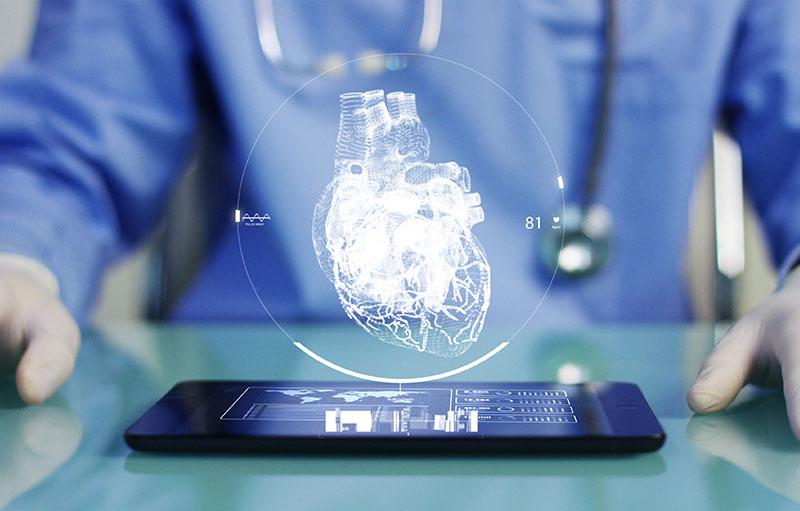 Visualisierung zur Digitalisierung im medizinischen Versorgungszentrum von Jochheim Medizin